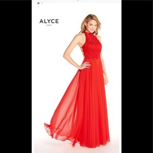 Alyce Paris Formal Gown 60061 Red